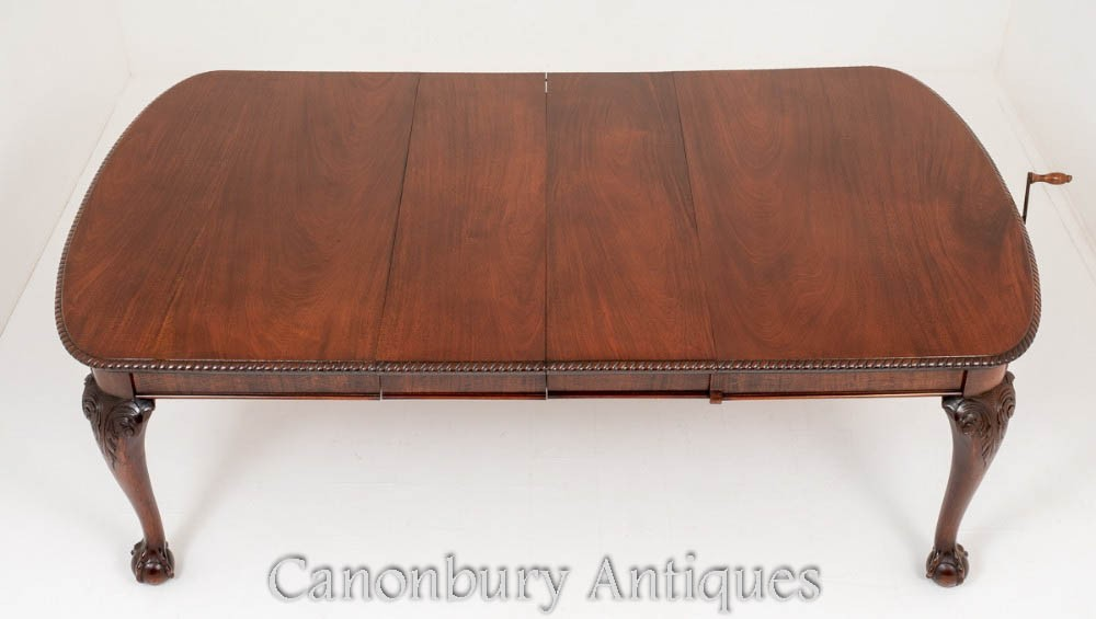 Mahogany Chippendale Dining Table - Salle à manger extensible