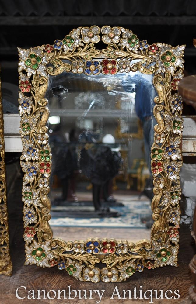 Miroir Art Nouveau en verre