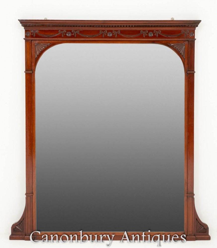 Miroir Overmantle Antique Victorien Vers 1880
