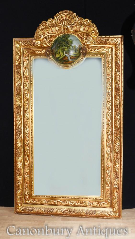 Miroir de jetée George II doré de 7 pieds de hauteur