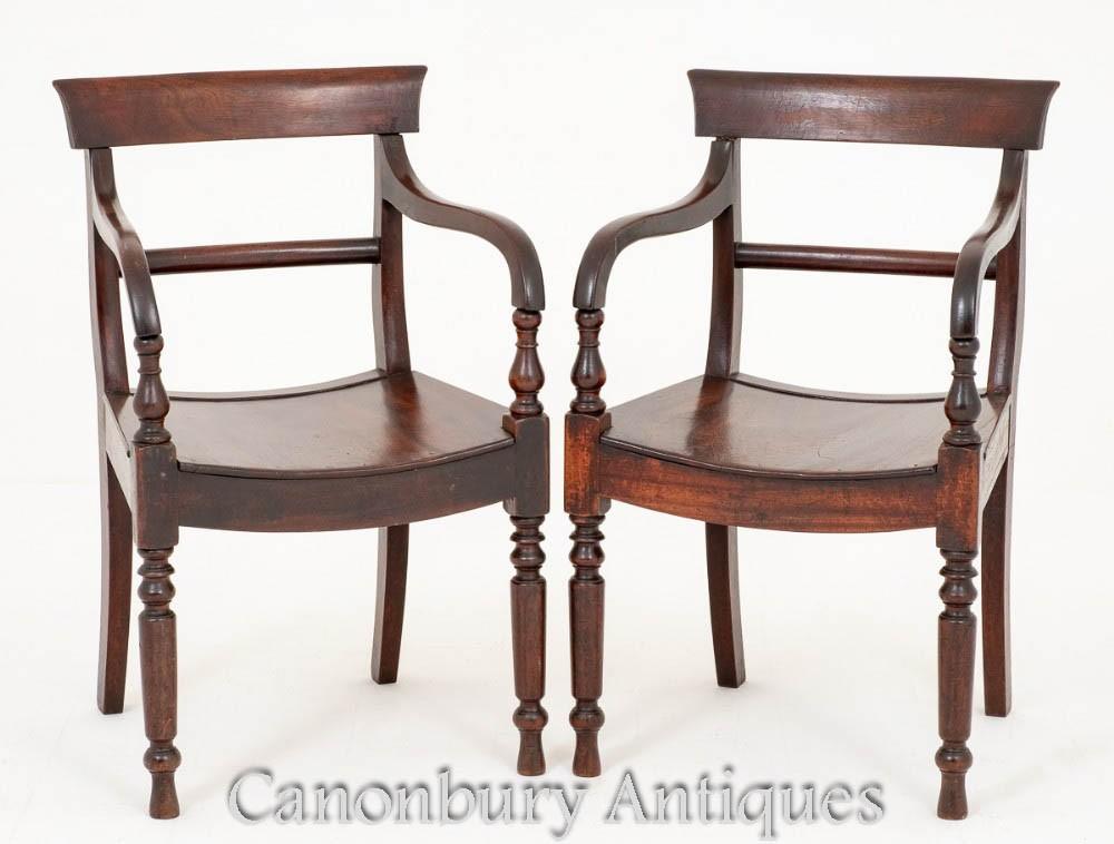 Paire de fauteuils d'époque victorienne