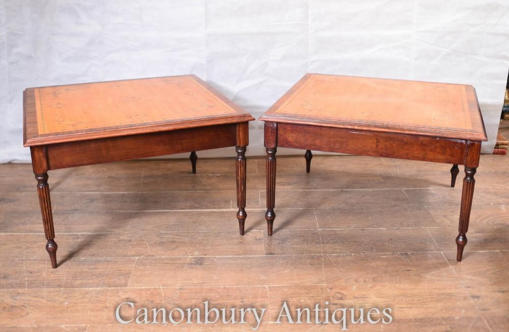 Tables d'appoint Sheraton - Dessus Regency en bois satiné