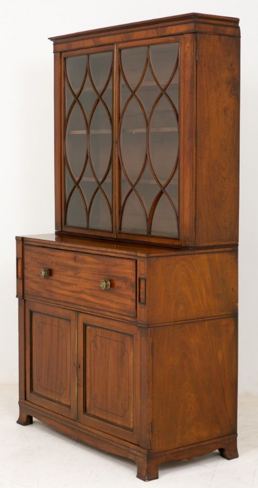 Armoire Victorienne - Flame Mahogany Antique 1870