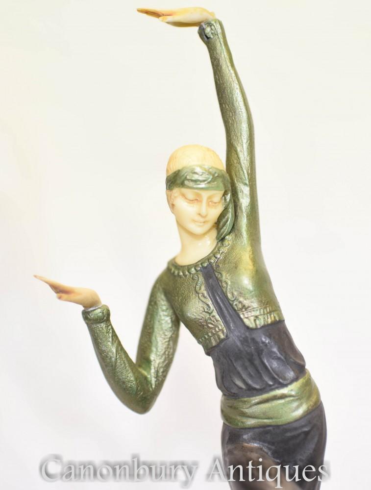 Statue Bronze Art Déco - Figurine Danseuse