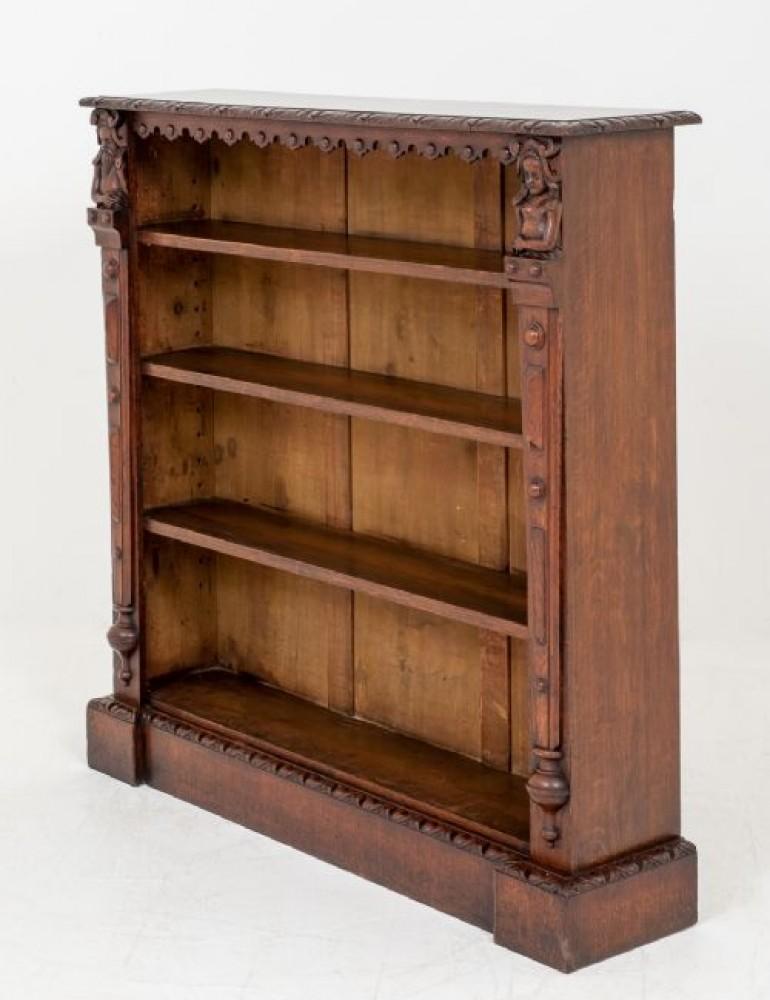 Bibliothèque Antique en Chêne - Bibliothèques à Ouverture Vers 1870
