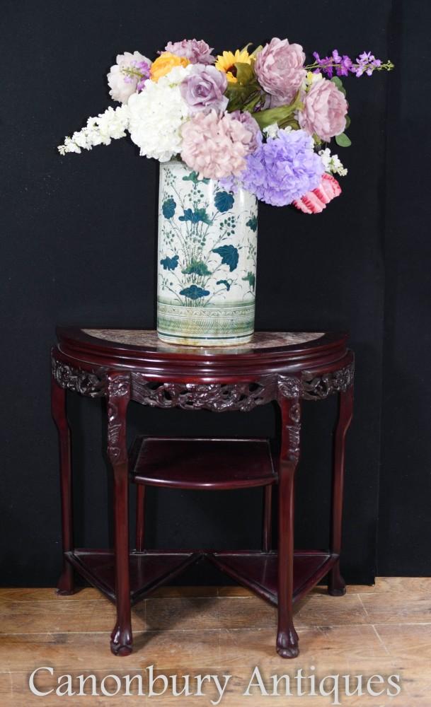 Console Chinoise Antique - Tables de Hall en Bois Dur