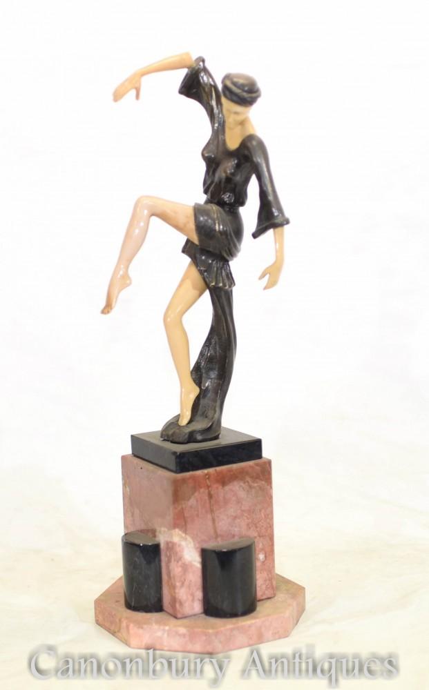 Figurine Danseuse Art Déco - Danse d'automne de F Preiss