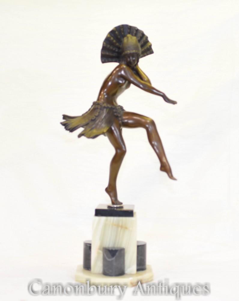 Figurine Danseuse Art Déco - Statue Danse Egyptienne