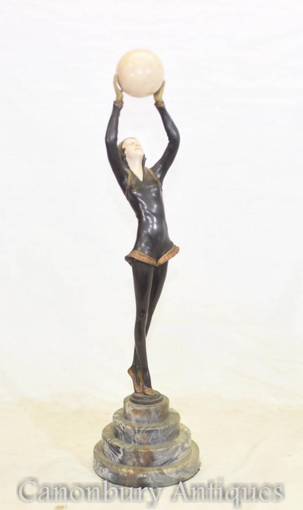 Figurine Danseuse Art Déco - Statue en Métal