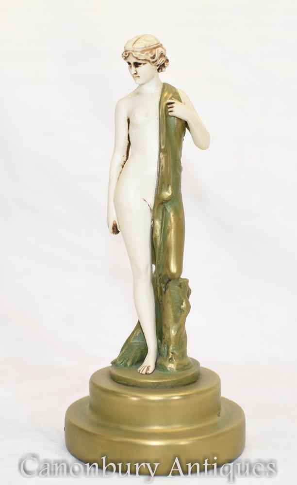 Figurine Nu Art Déco par F Preiss Aphrodite