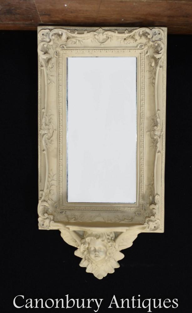 Miroir étagère chérubin français - Cadre complexe