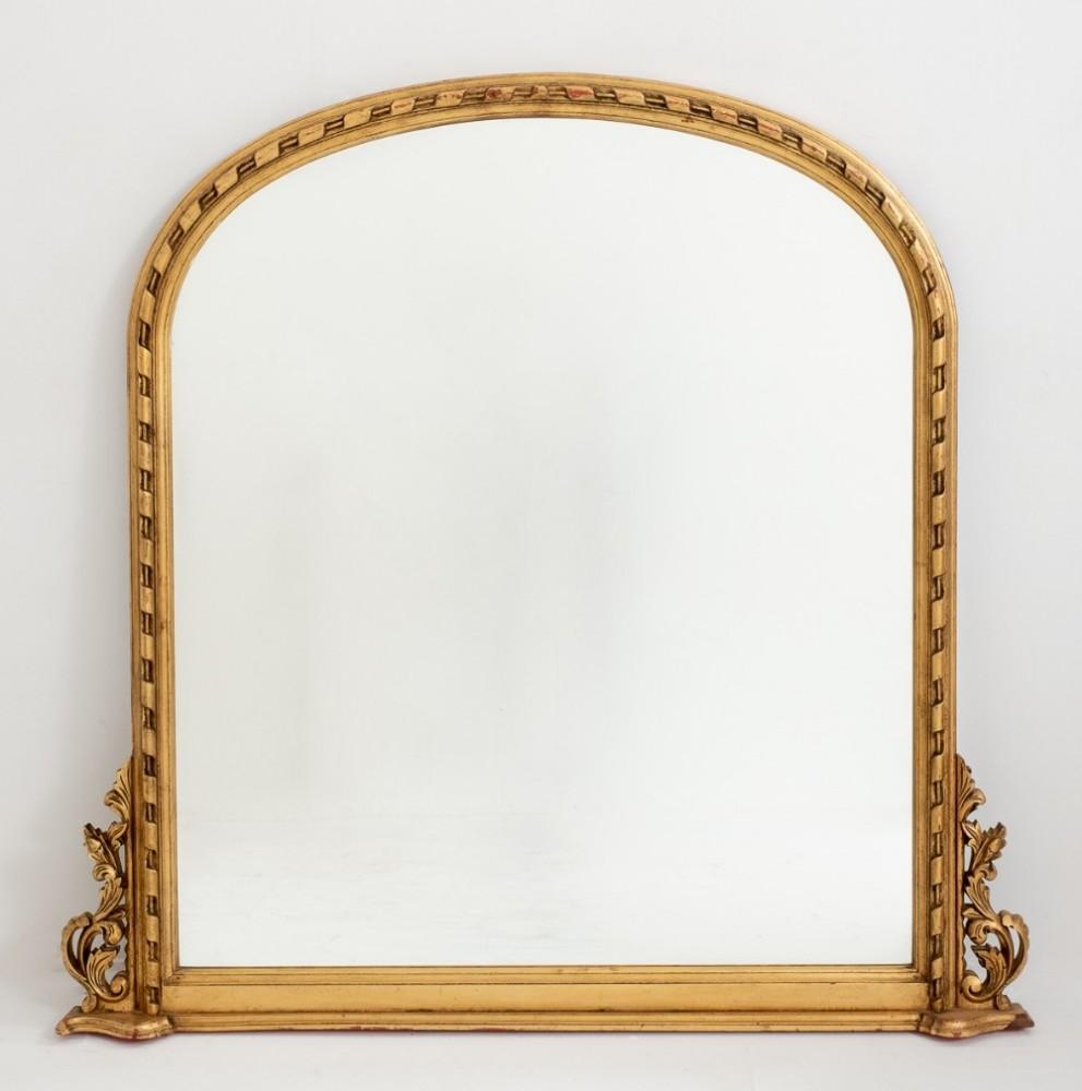 Miroir doré victorien - bois doré sculpté