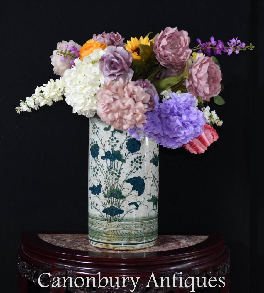 Porte-parapluie en porcelaine chinoise - Vase Famille Vert