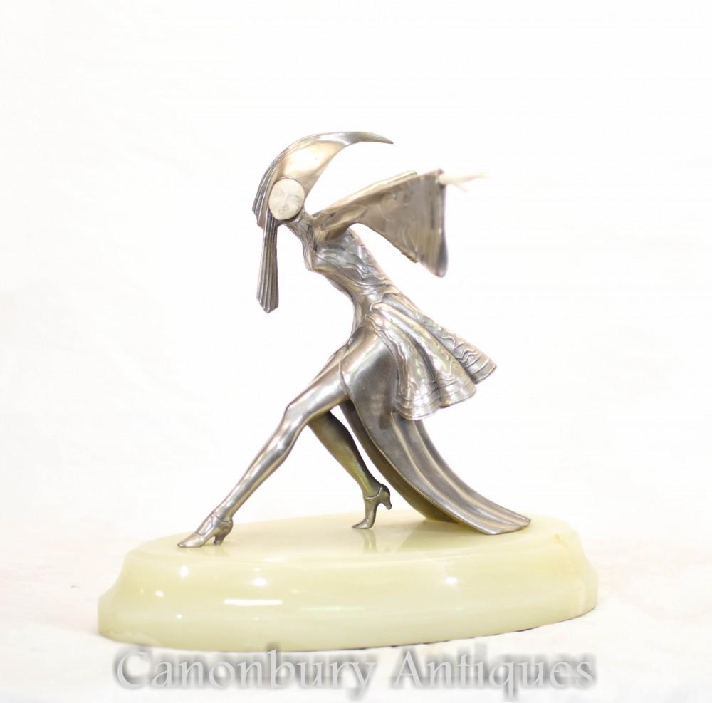 Statue Danseuse Exotique Art Déco en Bronze de Gerdago