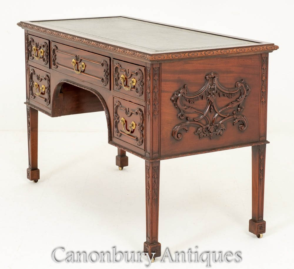 Table d'écriture de bureau antique Chippendale