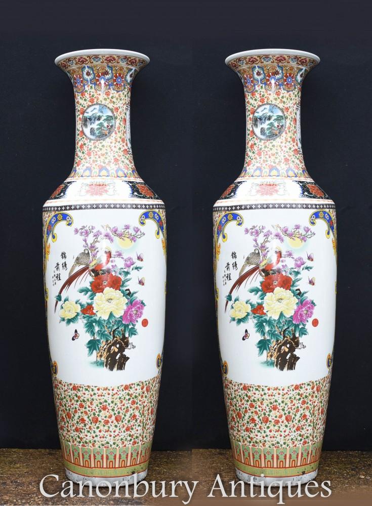 Vases en porcelaine chinoise - Urnes du temple Qianlong