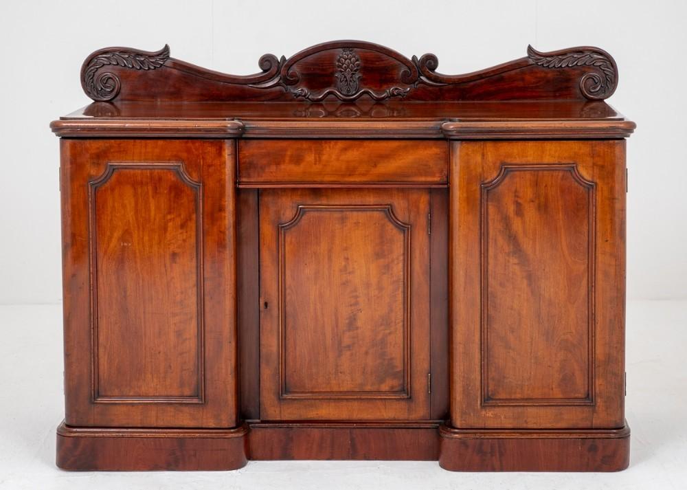 Armoire En Acajou Antique-Serveur De L'Époque Victorienne 1850