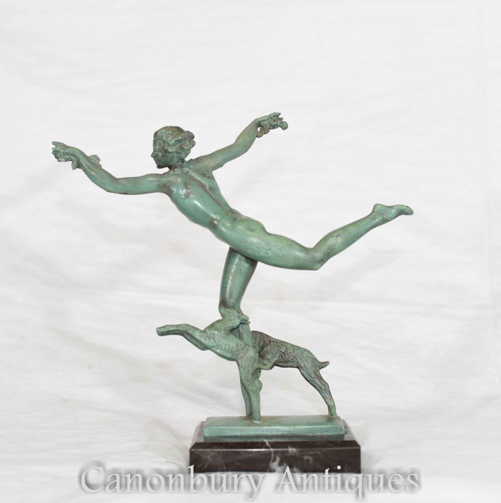 Nymphe En Bronze Art Déco - Fayral Max Leverrier