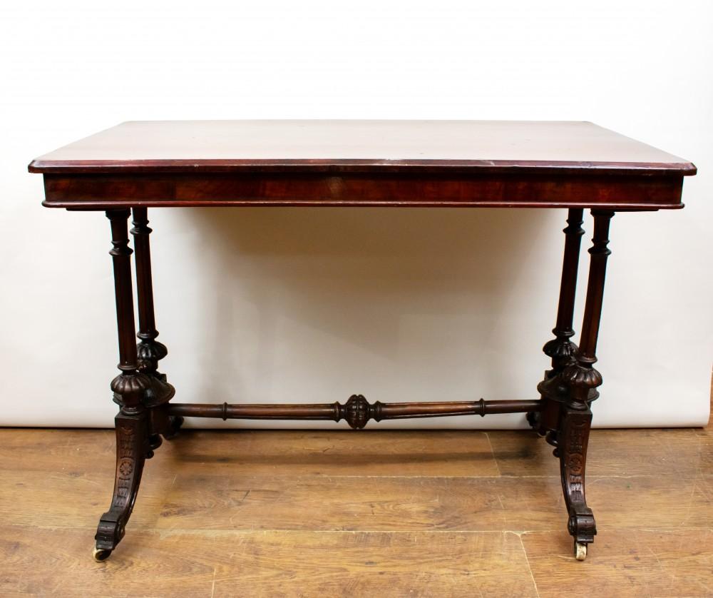 Table De Chevet De L'Époque Victorienne-Meubles Anciens Burr Walnut 1880