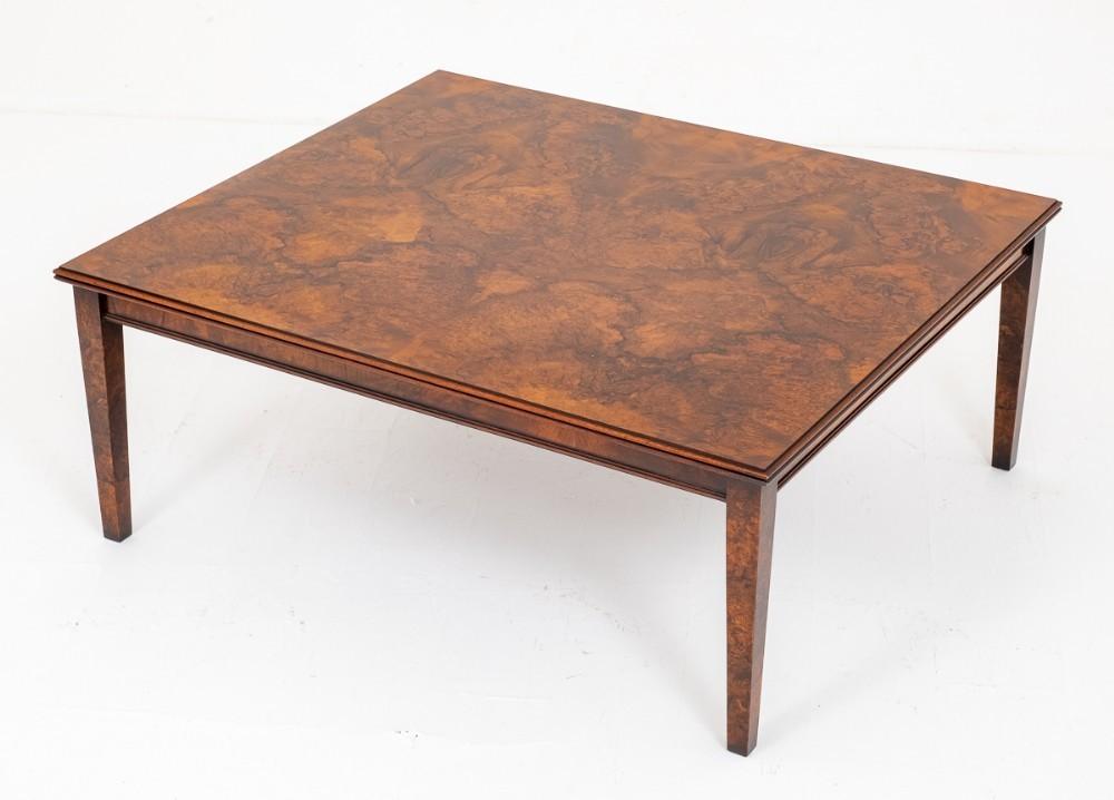 Table Basse Burr Noyer Antique