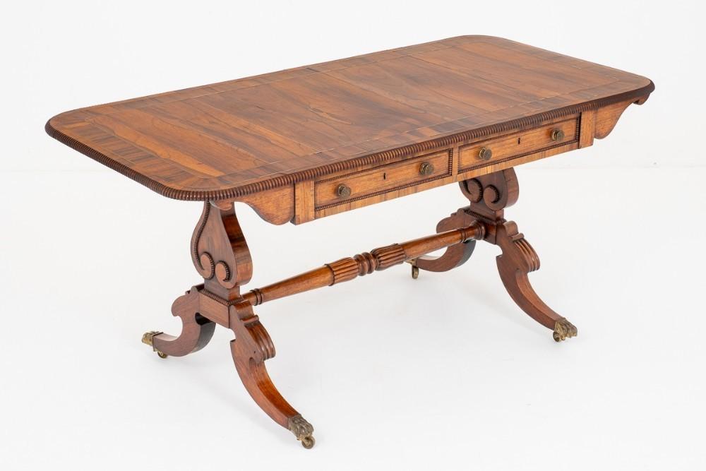 Table Bibliothèque Regency Bureau Palissandre Antique