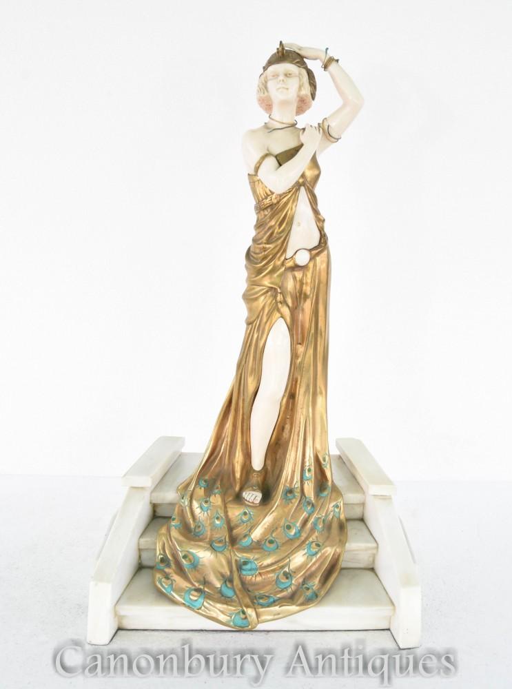 Figurine Art Deco Bronze Grande Entrée Signée Chiparus