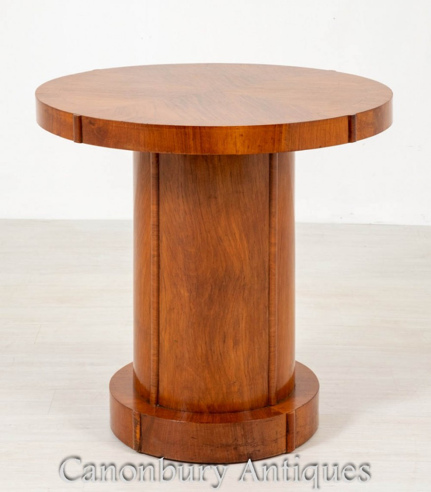 Table d'Appoint Vintage Art Déco - Noyer 1930