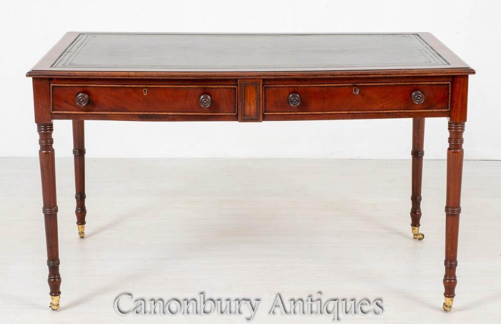 Tables de Bureau William IV Antique en Acajou